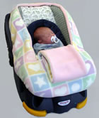 Covers for baby and infant car seats.